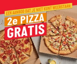 Papa John's NL – 2e pizza GRATIS!